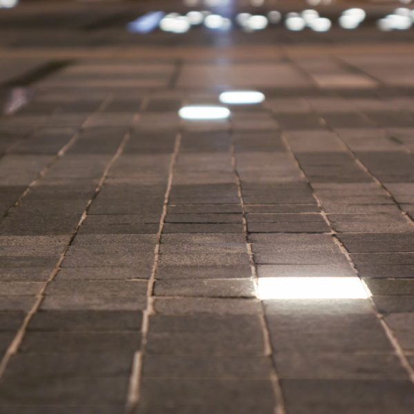 Outdoor Landscape Hard Paving Light In Plaza. Modern Pavement Li